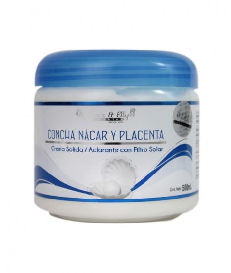 Crema Concha Nacar Y Placenta (Aclarante con filtro solar - Corporal)