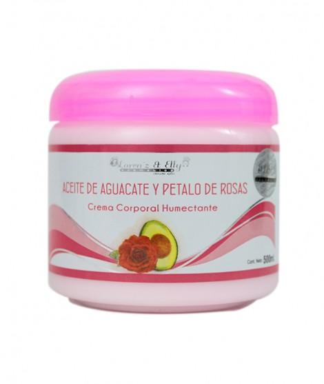 Crema De Aceite De Aguacate Y Pétalo De Rosas (Firmeza y humectación)