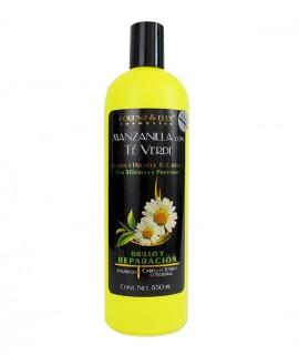 Shampoo Manzanilla Con Té Verde (Brillo y Reparación - Aclara y protege tu cabello - Cabello tenido o normal)