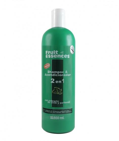 Shampoo y Acondicionador 2 en 1 Con Extracto De Chile Y Pantenol (Fortalece el cuero cabelludo evitando la caída))